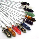 Point Pencil Silver Gemstone Necklace