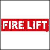 141838 Fire Lift Name Plate