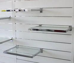 Glass Shelves On Slatwall Panel
