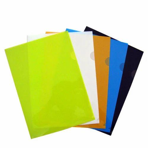 L-Shape Coloured Transparent Folder