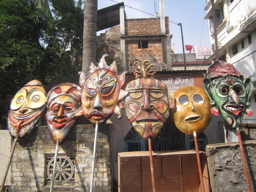 GLASSPOLL ART MULTI Fiberglass Tribal Mask