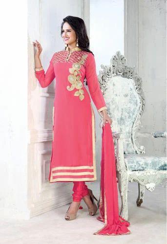 Fancy Straight Cut Salwar kameez - Online Fashion Marts
