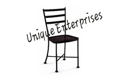 Unique Enterprises Black Hospital Iron Chair, For Outdoor