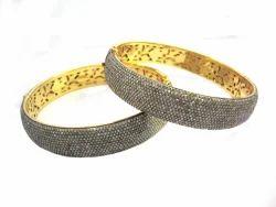 Micro Pave Diamond Studded Bangle