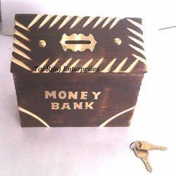 Big Wooden Money Bank