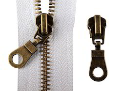 Antique Brass Zippers
