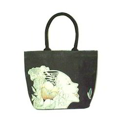 Printed Jute Ladies Bag