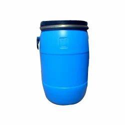 Blue 1 HM/ HDPE Open Top 55 Ltr Drum, Capacity: 70L
