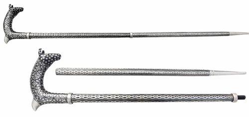 Walking Stick - Silver Inlay Walking Stick Manufacturer from