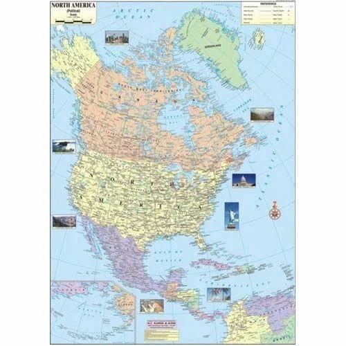 North America Political Map Chirantan Enterprise Exporter in