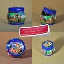 Paper Mache Hand Painted Lacquered Trinket Box Deer Design