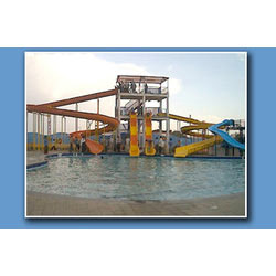 Water Park Equipment Set of 4 Body Slides