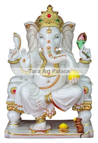 Multicolor Lord Marble Ganesh Ji Murti Rs 35000 Piece