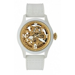 White With Gold Watch