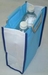 Plain Blue 2 Bottle Bag