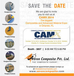 You all are invited to visit us at  CAMX 2014 : The biggest Composite and Material Expo in Orla