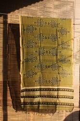 Block Printed Chanderi Dupatta