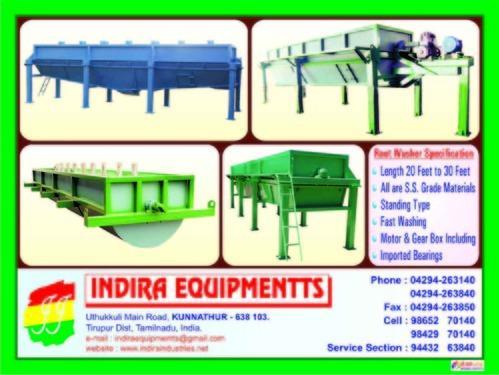 Tapioca Root Washer | Indira Industries | Manufacturer in Tiruppur