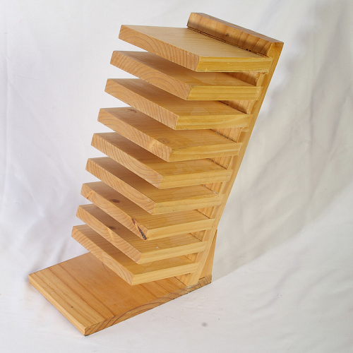 Wooden DVD Rack