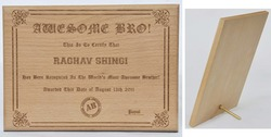 Wooden Laser Engraved Certificates