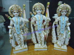 Marble Statue Ram Ji with Family