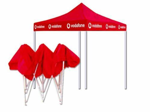 Red, White PVC Promotional Canopy Tent, Size: 6 - 8 Feet (Height)