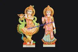 Marble Idols Radha Krishna Statue