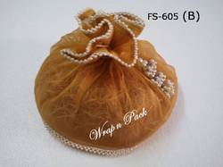 Tissue Potli with Pearl Tassels Products