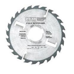Thick-Kerf Multi-Rip Saw Blades with Rakers