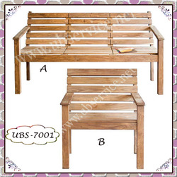 Wooden Garden Bench & Chair