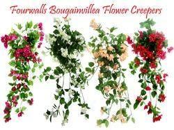 Bouganvilla Flower Bush ARTIFCIAL CREAPER Artificial Bougainvillea Creepers for Decoration, Size: 42