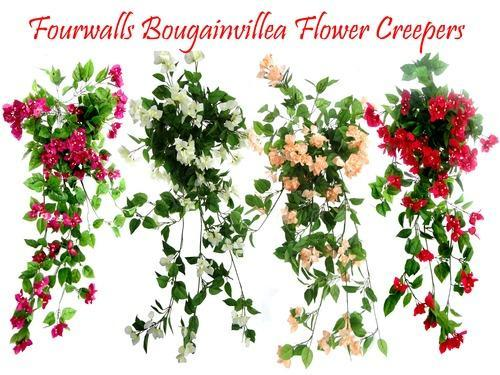 artificial bougainvillea creepers for decoration, fake flower