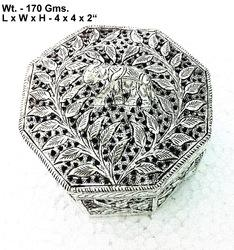White Metal Handicrafts Box