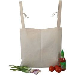 Natural Cotton Plain Shopping Checkout Bag, Number Of Straps: 2, Size: 17