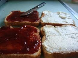 Jam Toast Butter Sandwiches