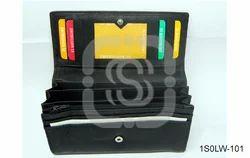 Plain Samo''s Ladies Black Leather Wallets Or Purse