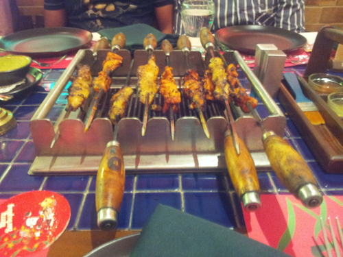 Barbecue On Table