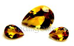 Citrine Faceted Pear Gemstone For Pendant
