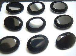 Black Onyx Oval Faceted Loose Gemstone