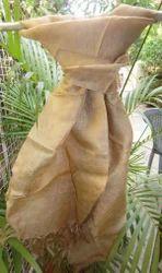 Golden Muga Silk Scarf