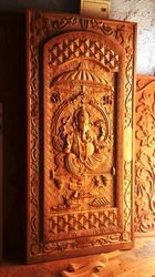 Special Hand Carved Lord Ganesha Door