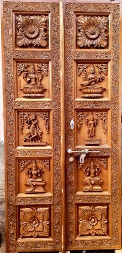 puja room sp temple carved doors
