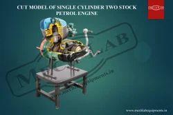 Cut Section Model of 1c,2s, Petrol Engine