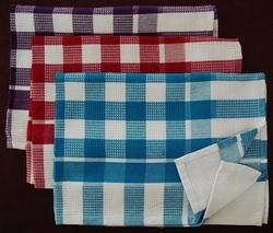 Check White Cotton Kitchen Towels, For Cleaning, Wash Type: Hand Wash