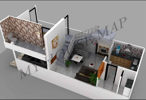 3d house map online house exterior service provider from jaipur - Home Naksa