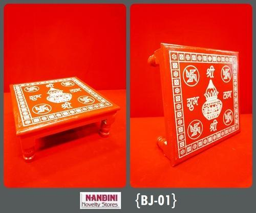 Wooden Red Printed Bajot