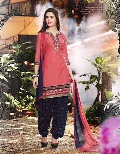 20413adab4 Patiala Chanderi Cotton Dress Material at Rs 310 /meter(s) - Apple ...
