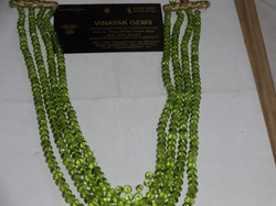 Peridot Macro Cut Roundel Bead