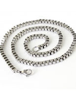 White Rhodium Chain