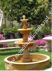 Teak Stone Garden Fountain